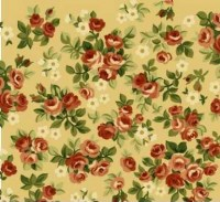 Laurel Hill Flannel, 729-242, Small Roses Spray, Cream